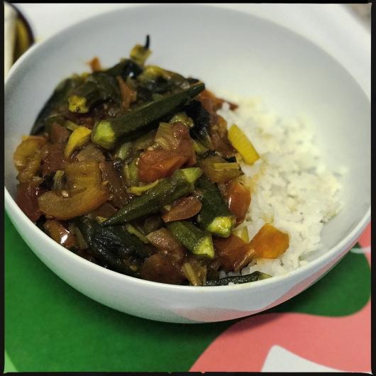 Okra-Gombo-Bhnidi à la tomate olives et citron confit